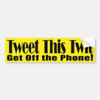Tweet This Twit GOP Bumper Sticker