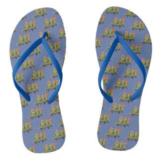 Tweet Trio Flip Flops (Blue)
