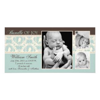 Tweet Tweet Boy Announcement Card Photo Card Template