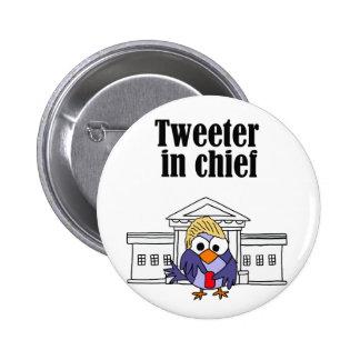 Tweeter in chief Trump 2 Inch Round Button
