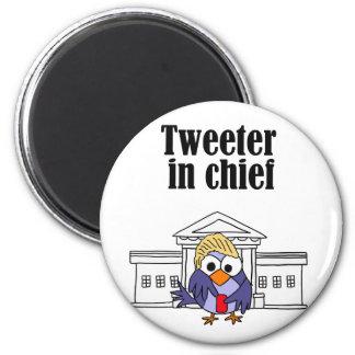 Tweeter in chief Trump 2 Inch Round Magnet