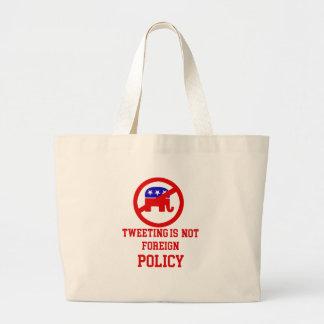tweeting design large tote bag