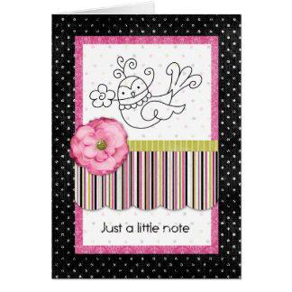 Tweetle Just a Note Card