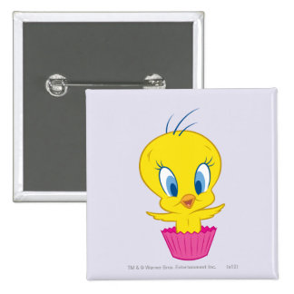 Tweety Cupcake 2 Inch Square Button