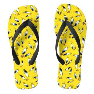 TWEETY™ Face Pattern Flip Flops