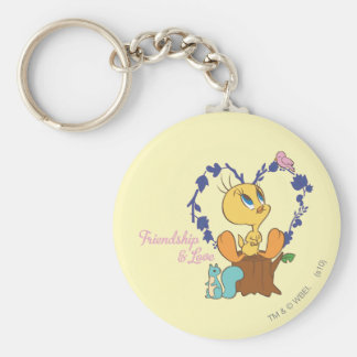 "Tweety ""Friendship And Love"" Keychain"