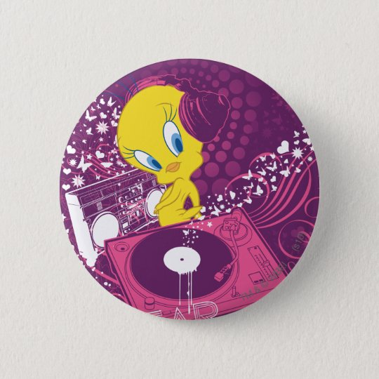 "Tweety ""Hear The Beat"" 2 Inch Round Button"