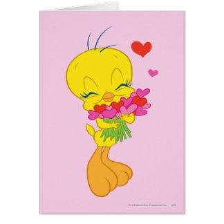 Tweety Hearts Card