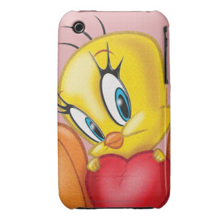 Tweety Holding Heart iPhone 3 Case-Mate Cases