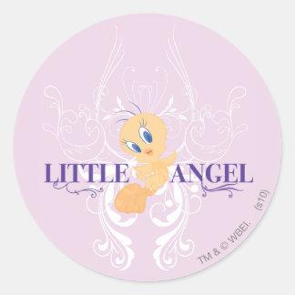 """Tweety """"Little Angel"""" Classic Round Sticker"""