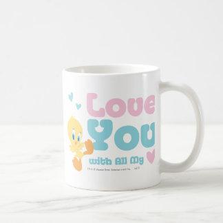"Tweety ""Love You With All My Heart"" Classic White Coffee Mug"