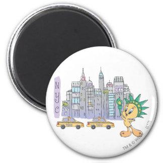 Tweety NYC 2 Inch Round Magnet