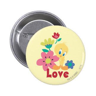 Tweety Red Love 2 Inch Round Button