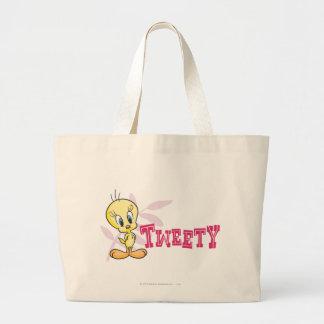 """Tweety """"Tweety"""" Pink Jumbo Tote Bag"""