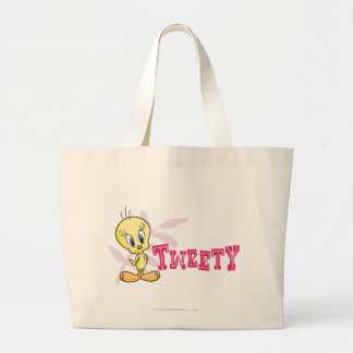 "Tweety ""Tweety"" Pink Large Tote Bag"