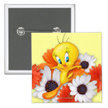 Tweety With Daisies Button