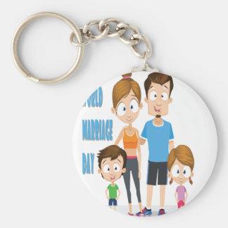 Twelfth February - World Marriage Day Basic Round Button Keychain