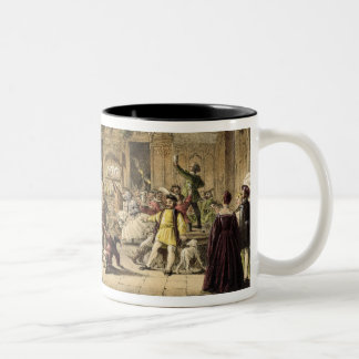 Twelfth Night Revels in the Great Hall, Haddon Hal Two-Tone Coffee Mug