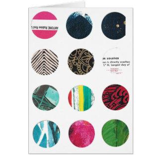 Twelve circles solstice and pink card
