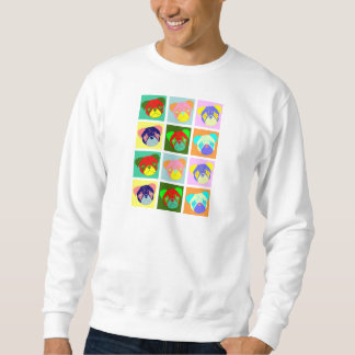 Twelve Colorful Pug Dogs Sweatshirt