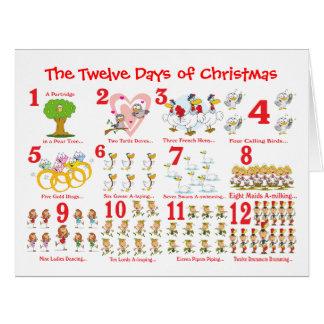 Twelve Days of Christmas Big Greeting Card