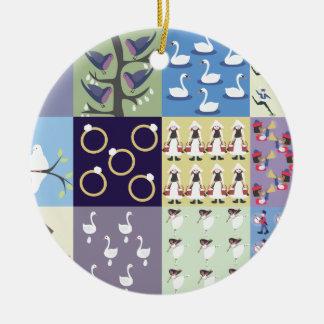 Twelve Days of Christmas Ceramic Ornament