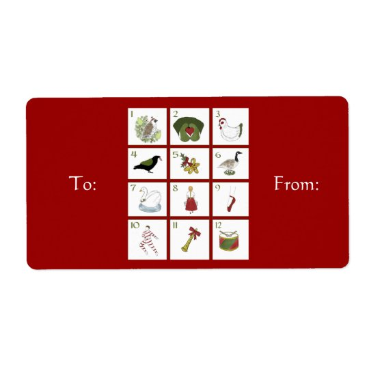 Twelve Days of Christmas Gift Labels