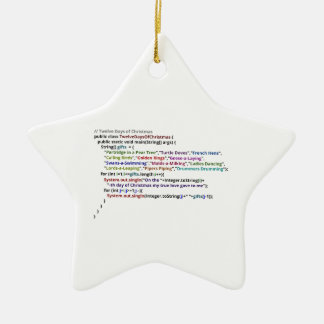 Twelve Days of Christmas in Java and Python Ceramic Ornament