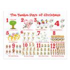 Twelve Days of Christmas Postcard