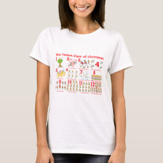 Twelve Days of Christmas T-Shirt