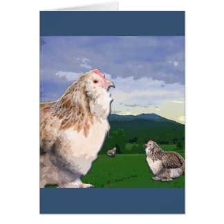 Twelve Days of Christmas - Three French Hens Greeting Card