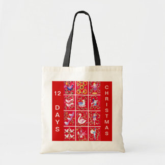 Twelve Days of Christmas Tote Bag