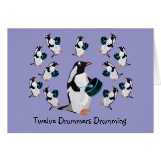 Twelve Drummers Drumming Cards
