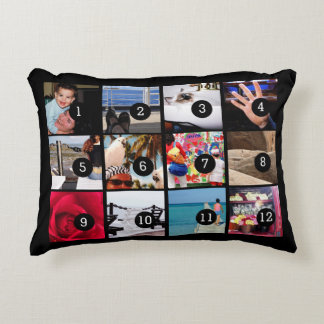 Twelve of Your Photos to Make Your Own Gift Easily Accent Pillow