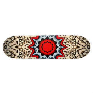 Twelve Points Mandala Skate Board