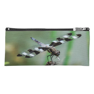 Twelve Spotted Skimmer Dragonfly Cosmetic Bag