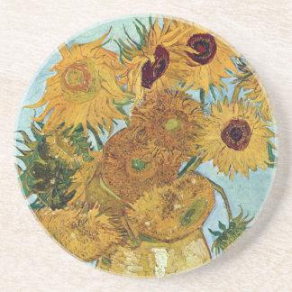 Twelve Sunflowers by Van Gogh Beverage Coasters
