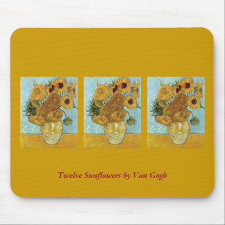 Twelve Sunflowers by Van Gogh Mouse Pad