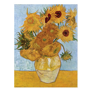 Twelve Sunflowers by Vincent Van Gogh Postcard