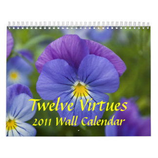 Twelve Virtues, 2011 Wall Calendar