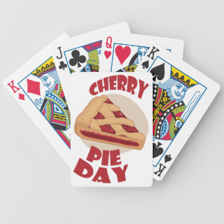 Twentieth February - Cherry Pie Day Bicycle Playing Cards
