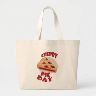 Twentieth February - Cherry Pie Day Large Tote Bag
