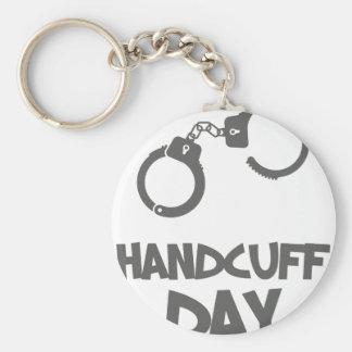 Twentieth February - Handcuff Day Basic Round Button Keychain