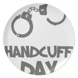 Twentieth February - Handcuff Day Dinner Plate