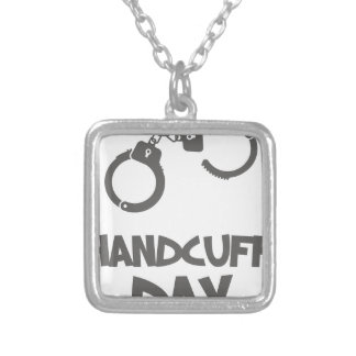 Twentieth February - Handcuff Day Silver Plated Necklace