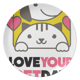 Twentieth February - Love Your Pet Day Plate