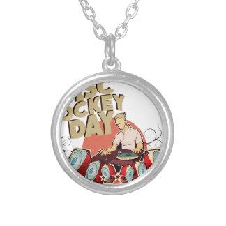 Twentieth January - Disc Jockey Day Silver Plated Necklace