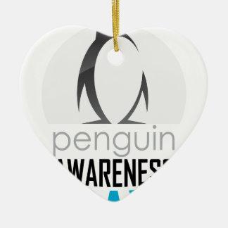 Twentieth January - Penguin Awareness Day Ceramic Heart Ornament