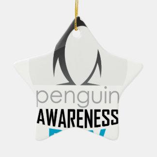 Twentieth January - Penguin Awareness Day Ceramic Star Ornament