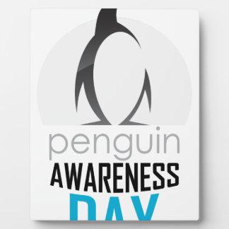 Twentieth January - Penguin Awareness Day Plaque